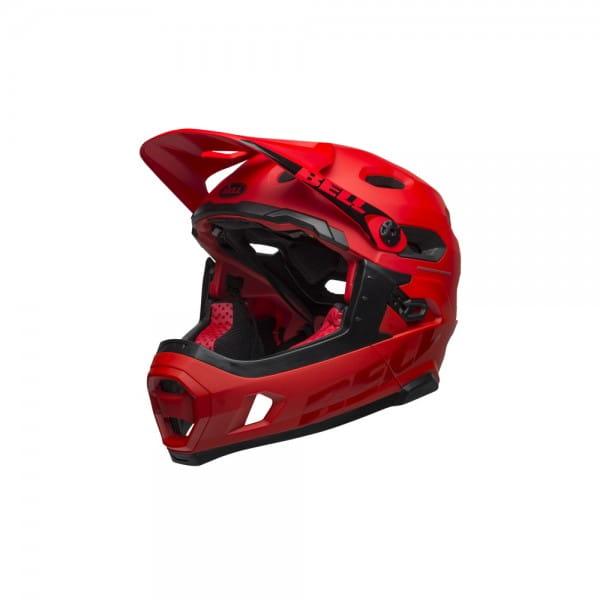 Super DH Mips Fahrradhelm - Rot/Schwarz