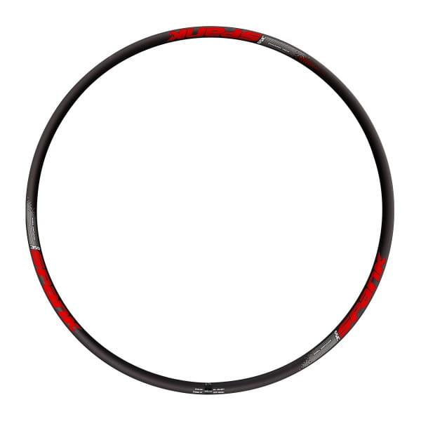 359 Vibrocore Felge - 32 Loch - 27,5 Zoll - Schwarz/Rot