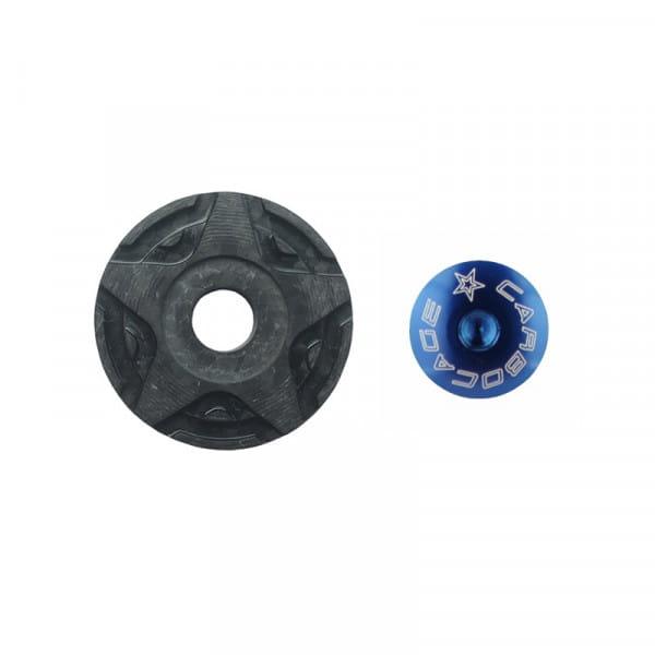 Top Cap Carbon 3D Aheadkappe - blau