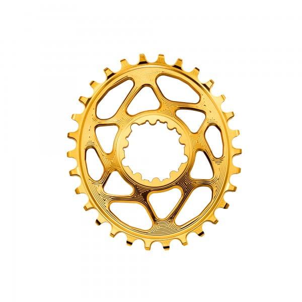 SRAM GXP Direct Mount Kettenblatt - Oval - 6 mm Offset - gold
