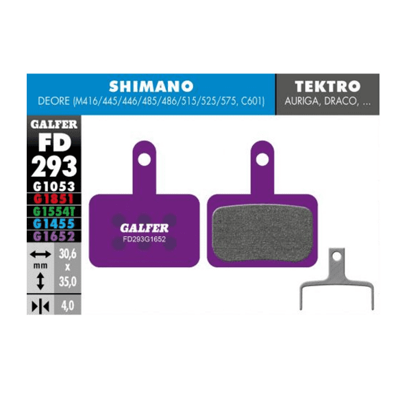 E-Bike Bremsbelag G1652 Shimano Deore - Violett
