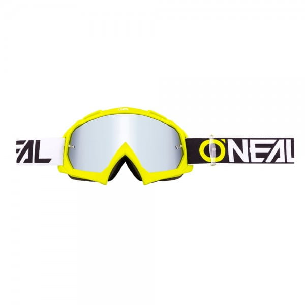 B10 Twoface Goggle - neon yellow - Lens mirror silver