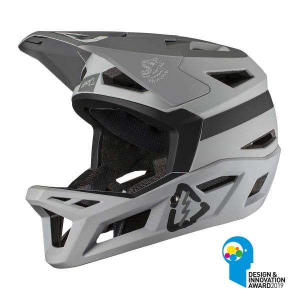 DBX 4.0 Super Ventilated Full Face Helm - Grau