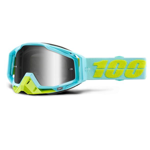 Racecraft Goggles Anti Fog Mirror Lens - Türkis/Grün