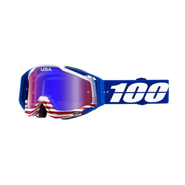 Racecraft Goggles Anti Fog Mirror Lens - Anthem