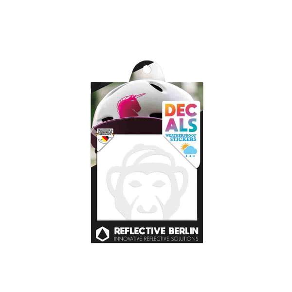 Reflective DECAL - Monkey - weiß