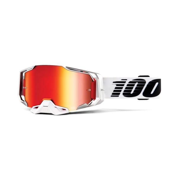 Armega Goggles Anti Fog - Weiß/Schwarz - verspiegelt