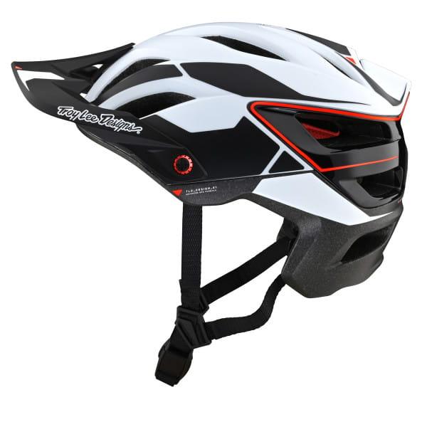 A3 MIPS - Helm - Proto White - Weiß/Schwarz/Rot