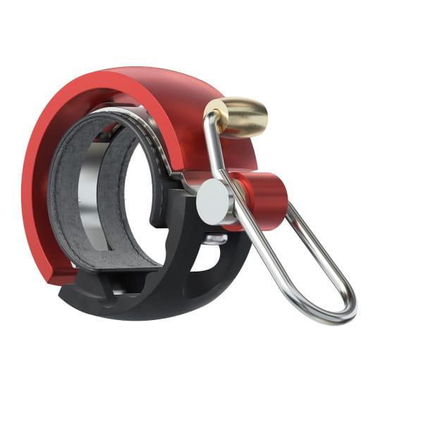 Oi Luxe Fahrradklingel - Schwarz/Rot - Small, 22.2mm