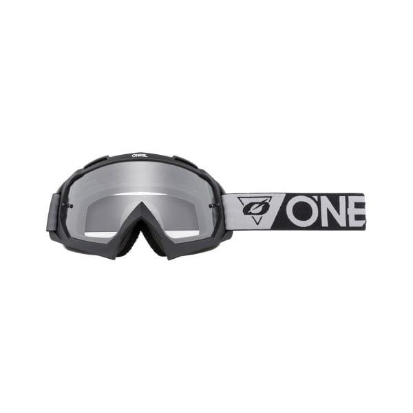 B-10 Speedmetal - Klar - Goggle - Schwarz/Grau
