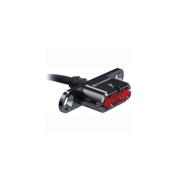 E3 Tail Light 2 Rücklicht für Gepäckträgermontage - 6V - Schwarz
