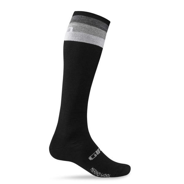 Hightower Merino Wollsocken 2016 - Black/Gray Stripe