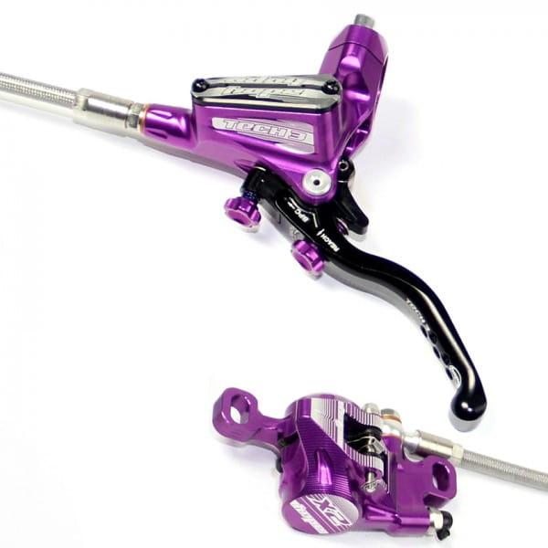 Tech 3 X2 Scheibenbremse Stahlflexleitung - purple