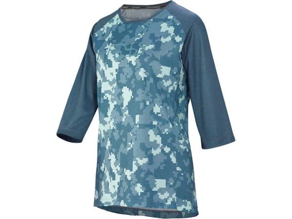 Carve Women's Jersey - Blue / Camo - 3/4