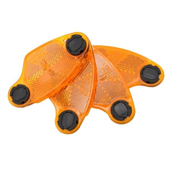 Speichenreflektoren mit Clip - Orange