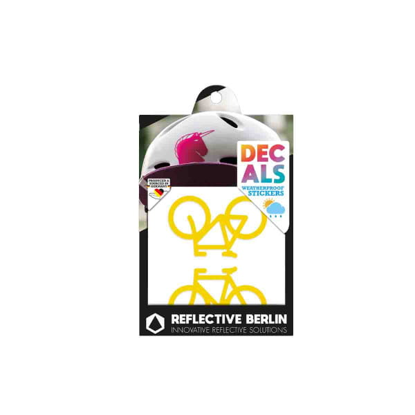 Reflective DECAL - Bicycles - gelb