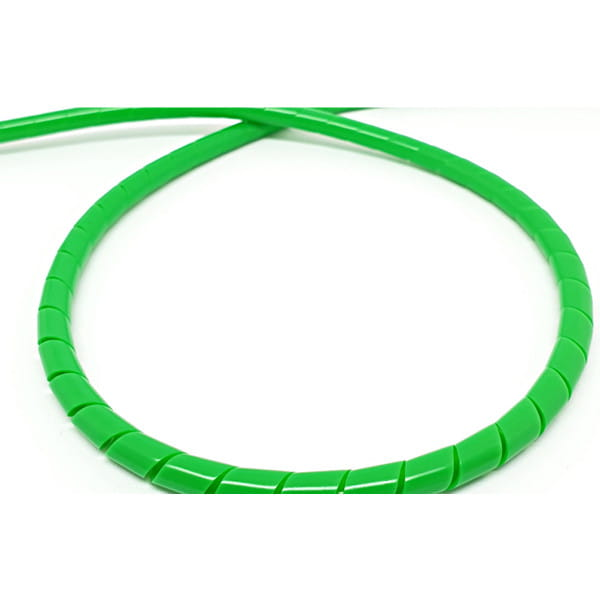 Spiral hose for brake line 2m - neon green