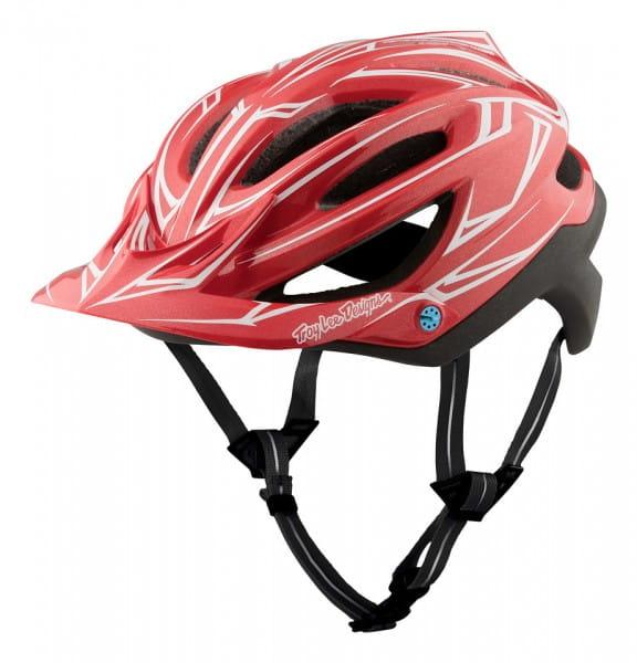 A2 MIPS Helm Pinstripe Red/Black