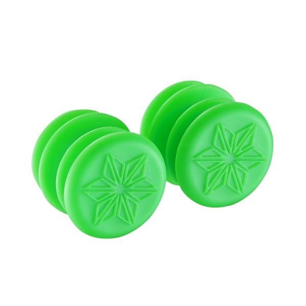 Handlebar End Caps Endz - Neon Green
