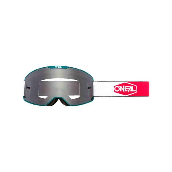 B-20 Goggles Plain Grau - Blaugrün