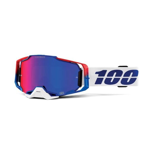 Armega Goggle Anti Fog - White / Blue / Red - Mirrored