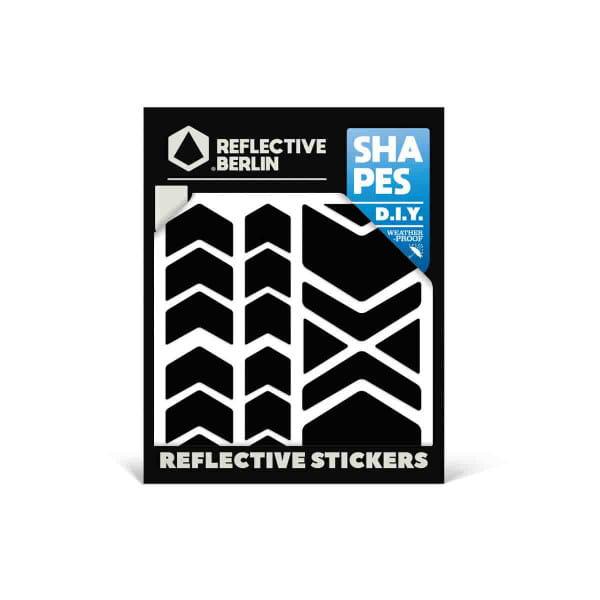 Reflective SHAPES - Chevron - schwarz