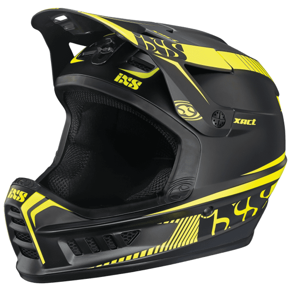 Xact Fullface Helm - black/lime