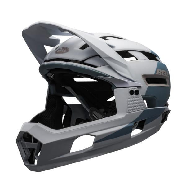 Super Air R Mips Fahrradhelm - Weiss/Grau