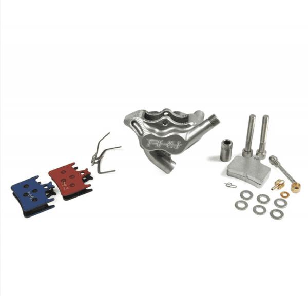 RX4 Bremssattel Flatmount Complete hinten - Sram - Silber