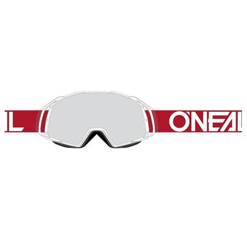 B20 Flat Goggle - red/white - Glass clear