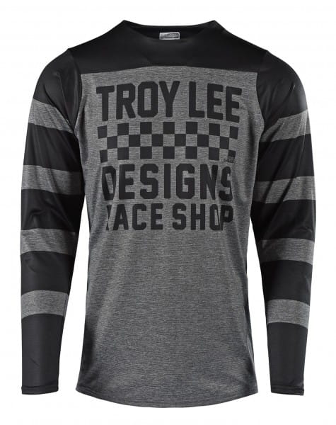 Skyline LS Jersey - Checker grijs / zwart