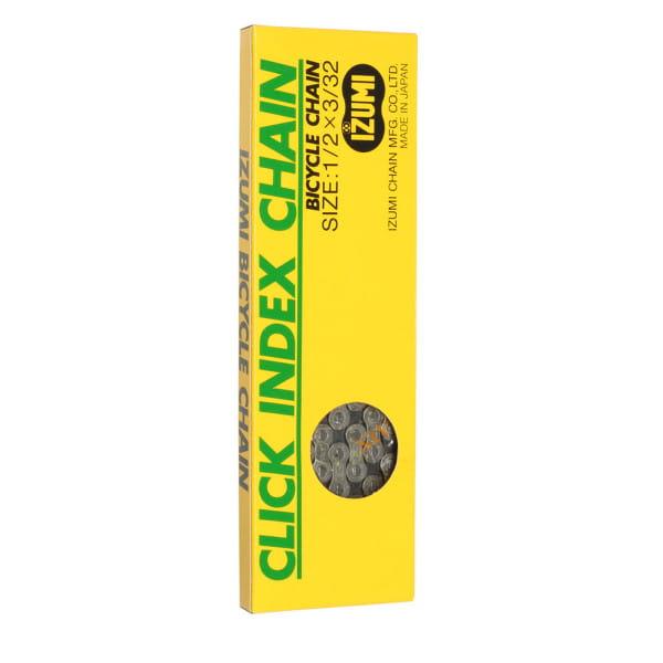 Click Index 6-7 Fach Fahrradkette - Schwarz/Silber