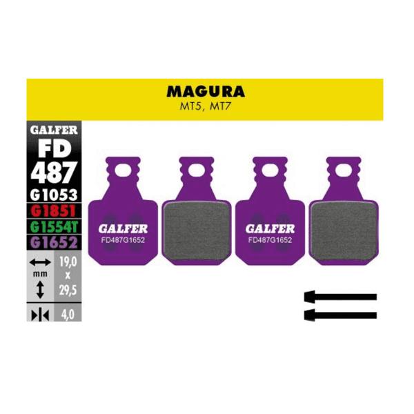 E-Bike Bremsbelag G1652 Magura MT5/MT7 - Violett