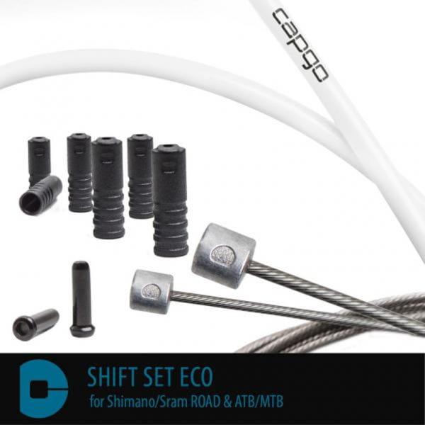 Schaltset ECO für Shimano/Sram ROAD & ATB/MTB - Weiß