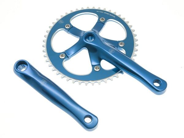 Track Kurbelgarnitur 165mm 48T blau