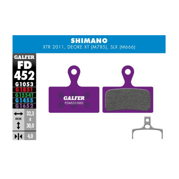 E-Bike Bremsbelag G1652 Shimano XTR - Violett