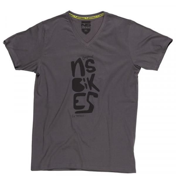 Doodle V-Neck T-Shirt Black
